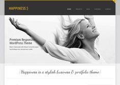 Happiness Premium Responsive WordPress Theme #responsive #wordPress #theme #website #web #webdesign [$40]