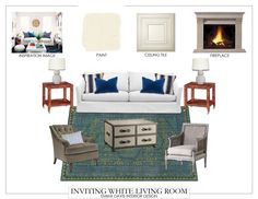 The entire Inviting White Living Room look all tied together!  I hope you enjoyed this week's Fifth Wall Friday.  #fifthwallfriday #ceilume #ceiling #interior #design #diy #livingroom