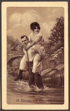 A Game of Briddge Victorian Romance Lovers Photo Life Series Postcard 1910 | eBay