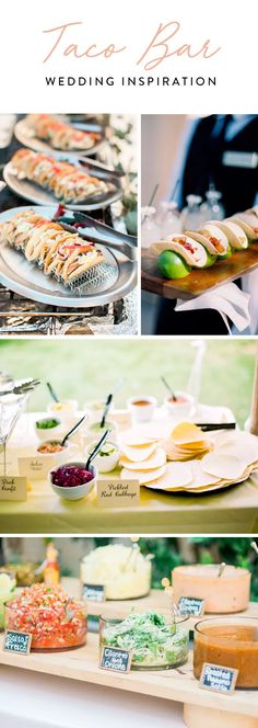 Today's bride is down to earth and, like us, all about the guac. Here are some adorable ideas for your own wedding taco bar. Taco 'bout a party.