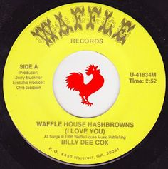 Billy Dee Cox - Waffle House Hashbrowns (I Love You) Billy Dee, Waffle House, Love You, My Love, Southern Style, Waffles, Funny Stuff, Deep, Awesome