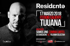 Residente en Tijuana!  Sábado 17 de Marzo en el Estadio Caliente.   Próximamente precios y detalles.  #Hayqueir!