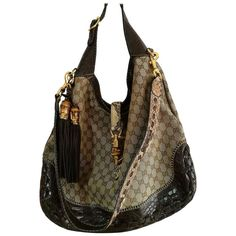 d6a2fd950456 Gucci Monogram Crocodile and Python Skin Shoulder Bag