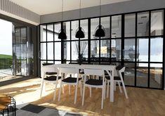 Jadalnia w domu jednorodzinnym, Szczecin, 2017 – REMA DESIGN Conference Room, Divider, Table, Furniture, Home Decor, Decoration Home, Room Decor, Tables, Home Furnishings