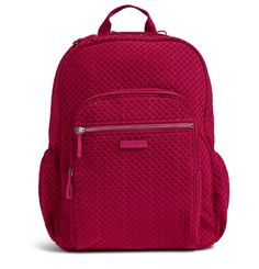 0fb2ee98d6dc Image of Iconic Campus Backpack in Microfiber Passion Pink. rachel langley  · vera bradley
