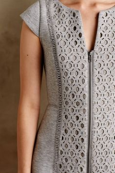 Cut-Out Neoprene Dress - anthropologie.com