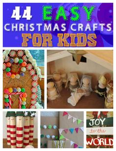 Click Pic for 44 Easy DIY Christmas Crafts for Kids Childrens Christmas Crafts, Christmas Decorations For Kids, Christmas Crafts For Kids To Make, Homemade Christmas Gifts, Christmas Stuff, Simple Christmas, Xmas Gifts, Holiday Crafts, Christmas Holidays