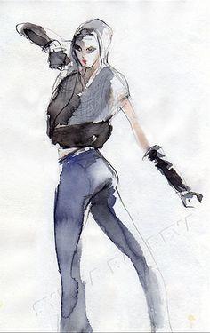 Fashion illustration - Illustration de mode - Croquis de mode Sylvia Baldeva®
