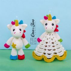 Nuru the Unicorn Lovey and Amigurumi Crochet Patterns by One and Two Company