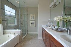Master Bathroom Staging in Mattamy Homes Rivertown Model