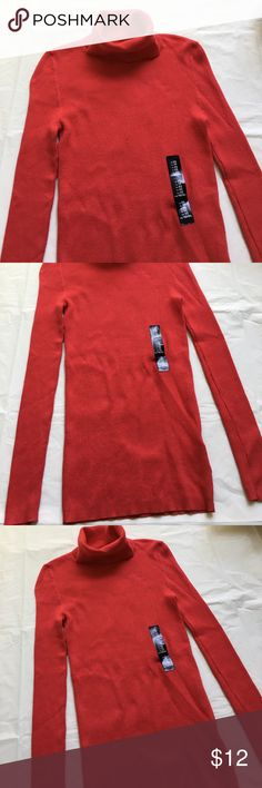 BRAND NEW GAP Red Ribbed Turtleneck Sweater Brand new with attached tags. Available in sizes shown. Soft and stretchy. Retail $39.99. Price is firm. GAP Sweaters Cowl & Turtlenecks