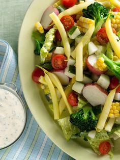 Summer Chopped Salad with Ranch Dressing Recipe : Food Network Kitchen : Food Network Food Network Recipes, Cooking Recipes, Healthy Recipes, Cooking Time, Easy Recipes, What's Cooking, Grilling Recipes, Vegetarian Recipes, Quinoa