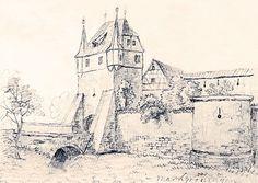 Schiller's vlucht uit Stuttgart begint bij de Esslinger Tor Friedrich Von Schiller, Cologne, Taj Mahal, Cathedral, Building, Travel, Stuttgart, Viajes, Buildings