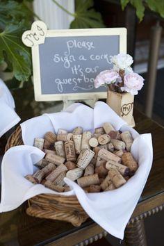 Wine Cork Guest Book