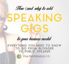 How (and why) to add speaking gigs to your business model