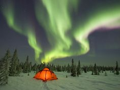 Magical #northernlight #aurora what an amazing place for a tent