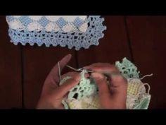 Borde en crochet para la mantita de bebé. Parte 2