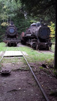 Two full-sized trains rest quietly in the Northern Maine Woods, abandoned in the early from the Eagle Lake & West Branch Railroad. How do you find them? It's easy, and I… Abandoned Train, Abandoned Ships, Abandoned Houses, Abandoned Places, Abandoned Vehicles, West Branch, Northern Maine, Desert Places, Eagle Lake