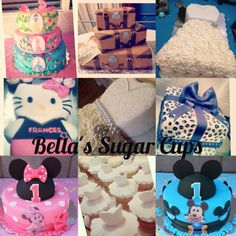 Designer Cakes, Cupcakes and Chocolate covered Strawberries! Contact Christina Rodriguez at (661)348.8472