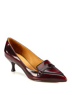 Leather Loafer Pumps Marc Jacobs