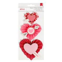 American+Crafts+-+Valentines+2017+Collection+-+Heart+Rosettes+at+Scrapbook.com
