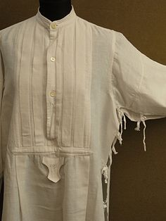 "1910-1930's white shirt ""open side"" - ヨーロッパ古着店 「Mindbenders&Classics」"
