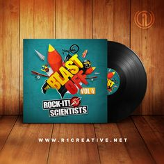 #TBT to our eye-popping cover design concept for San Francisco's Rock-It! Scientists Blast Off mixtape! #RockItScientists #MakeItDope!
