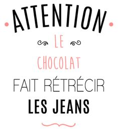 personnaliser tee shirt Attention au chocolat