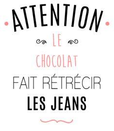 personnaliser tee shirt Attention au chocolat