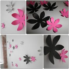 paper flowers to your wall