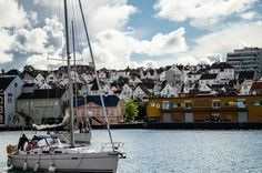 Přístav ve Stavangeru Trondheim, Bergen, Rafting, San Francisco Skyline, Travel, Voyage, Viajes, Traveling, Trips