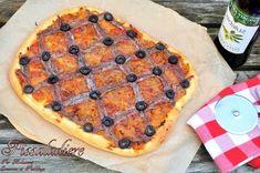 Pissaladière -Pizza aux oignons, anchois et olives- - Couscous et Puddings