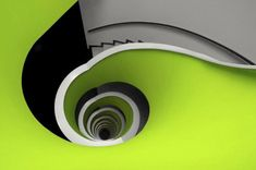 Spiral staircases are a staple of architectural design, because they add dynamics and almost fractal-based geometry to architecture. Contemporary Architecture, Architecture Details, Interior Architecture, Interior Design, Modern Staircase, Staircase Design, Spiral Staircases, Stair Design, Stair Steps