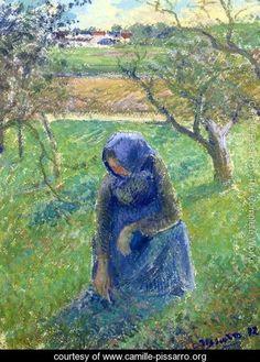 Gathering Herbs - Camille Pissarro - www.camille-pissarro.org