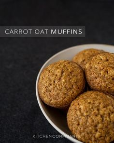 Carrot Oat Muffins - needed some jazzing up so I threw in more spices. Raisins would be good too