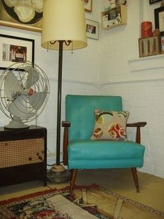 Love vintage furniture.-Me too.I like the chair.