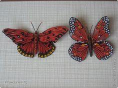 Картина, панно, рисунок Квиллинг: Бабочка. Бумажные полосы. Фото 6