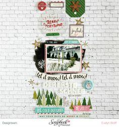 Der erste Schnee | Scrapbooking Layout | Dezember-Kit der Scrapbook Werkstatt