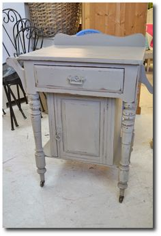 French Linen Annie Sloan Paint Seen On Paint Me WHite Blog
