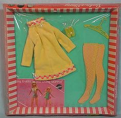 Vintage Barbie Yellow Mellow. Loved buying clothes for my Barbie dolls!!