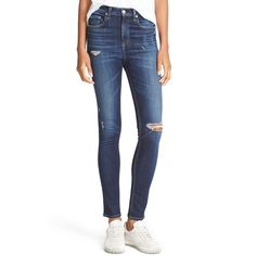 Rag and Bone Dive Jeans in Daisy
