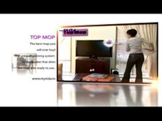 TOP MOP http://www.myvista.tv/default/my-home-6/top-mop.html The Top Mop is a revolutionary new cleaning system. For wet or dry, the Top Mop is the best mop you will ever buy! The unique spinning system in the bucket dries the mop, ready to use. Never touch filthy water again! The ultra fine mop fibers consists of multiple triangle shaped openings that attracts and traps dust and dirt. The Top Mop stands upright, saving your space. The mop easily cleans hard to reach places