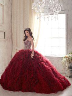 ea46d25b55 76 Beautiful Maroon Quinceanera Dresses. Vestidos ...