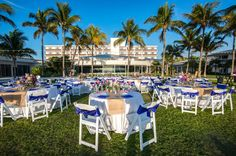 Beach Wedding Reception Set-Up in Naples, Florida at The Naples Beach Hotel & Golf Club
