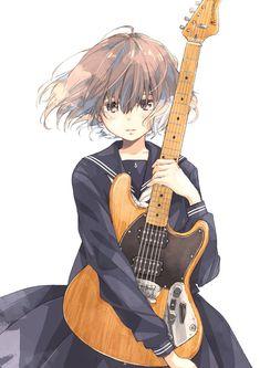 楽器と女の子