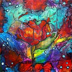 -paintings-for-sale-acrylic-vibrant-floral-painting-floral-paintings ...