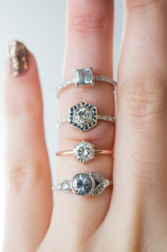 Amazing alternative engagement rings, handcrafted in NYC by S. Kind & Co with ethically sourced gemstones and recycled gold.