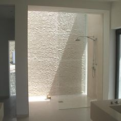 Love the smooth transition. The sunlit shower of an Andalucian villa. Architecture and design by the London based McLean Quinlan. Bathroom Spa, Bathroom Wall Decor, Bathroom Interior, Modern Bathroom, White Bathrooms, Glass Bathroom, Simple Bathroom, Bathroom Ideas, Bad Inspiration