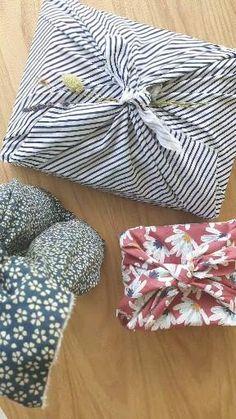 Creative Gift Wrapping, Creative Gifts, Zero Waste Home, Gift Wrapping Techniques, Gift Wrapping Tutorial, Diy Cadeau Noel, Furoshiki Wrapping, Bff Birthday Gift, Gift Wraping