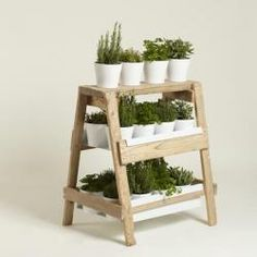 This would be nice for an indoor herb garden, and looks like it'd be easily made.